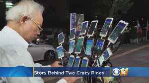 Off Beat Video: Men Disguised As Bus; Man Attaches 15 Phones To Bike For Pokémon Go [Video]