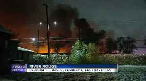 Fire finally extinguished at Downriver commercial building [Video]