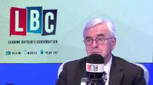 John McDonnell Says He'd Would Still Vote Remain [Video]