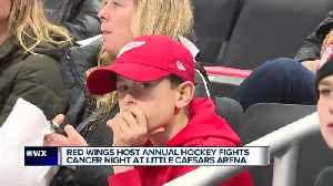 Red Wings host annual hockey fights cancer night at Little Caesars Arena [Video]