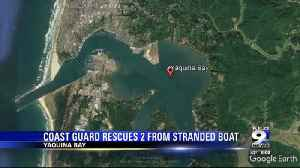 Coast Guard rescues 2 stranded in boat in Yaquina Bay [Video]