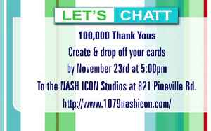100,000 Thank Yous with Dodger & 107.9 Nash Icon [Video]