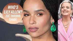 Zoë Kravitz says Lily Allen attacked her with a kiss [Video]