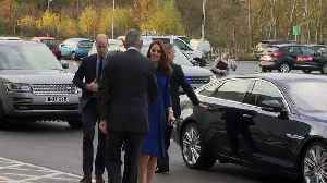 Prince William and Kate open McLaren centre [Video]