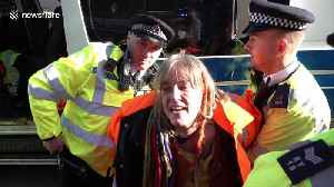 9 arrested as climate change protestors disrupt Brexit draft agreement [Video]