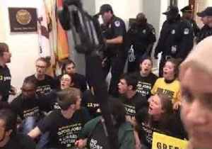 Climate Protesters Arrested During Sit-In at Nancy Pelosi's Office [Video]