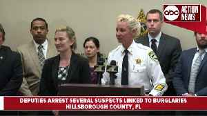 6-month-long investigation into business burglaries trend leads to several arrests across Tampa Bay | Press Conference [Video]