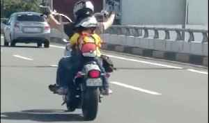 Kid Riding Harley With Daddy [Video]