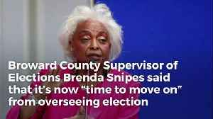 Broward Election Supervisor Brenda Snipes Says She's Served Her 'Purpose,' Now It's 'Time To  [Video]