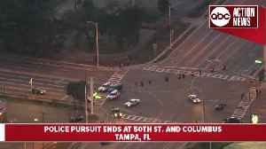Police pursuit ends in crash in Tampa | Action Air 1 [Video]