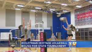 Midlothian Heritage Volleyball Team Heading To State [Video]