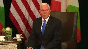 Pence calls persecution of Rohingya inexcusable [Video]