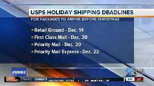 Post Office releases holiday shipping deadlines [Video]