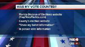 Here's how to check if your vote counted in Florida [Video]
