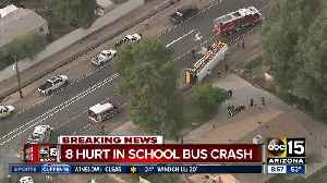 8 kids on board bus involved in West Valley rollover [Video]