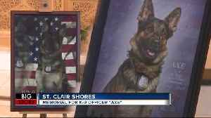 Memorial service for fallen K-9 Officer Axe [Video]