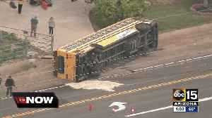 School bus involved in West Valley wreck [Video]