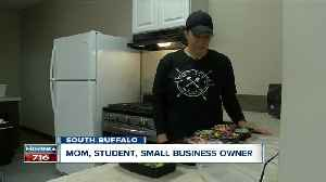 Mom, student, small business owner: How one Buffalo woman is doing it all [Video]