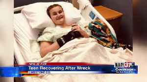 Teen recovering after wreck [Video]