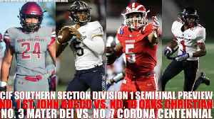 CIF Southern Section Division-1 semifinal preview [Video]