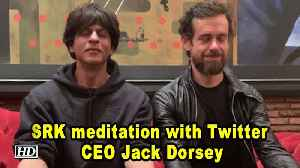 Shah Rukh's meditation with Twitter CEO Jack Dorsey [Video]