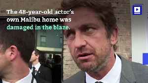 Gerard Butler Takes in California Wildfire Victims [Video]