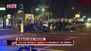 Police pursuit ends in crash at 50th and Columbus in Tampa [Video]