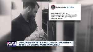 Justin Verlander posts photo with infant daughter after Cy Young results [Video]
