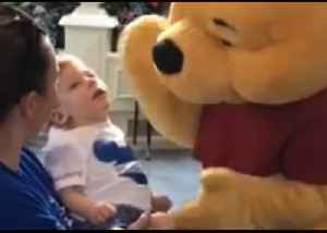Disney World's Winnie the Pooh Shares Tender Moment With Disabled Child [Video]