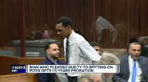 Man sentenced to 18 months' probation for spitting on pizza at Comerica Park [Video]