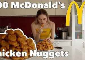 She's Lovin' It: Model Munches McDonald's Nuggets for Charity [Video]