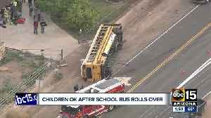 Children OK after school bus rolls involved in West Valley crash [Video]