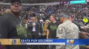 Mavericks Host Annual Seats For Soldiers [Video]