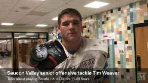 Saucon Valley offensive tackle Tim Weaver talks about playing Bethlehem Catholic in the District 11 4A championship game [Video]