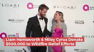 Liam And Miley Donate 500k To Help Those In Need From Fires [Video]