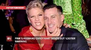 Pink's Husband Will Shoot Looters On Sight [Video]