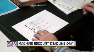 News video: Florida counties face deadline to wrap up machine recounts on Thursday