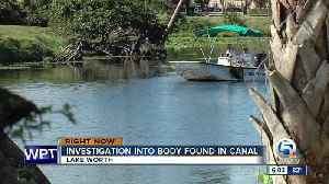 Woman's body found in Lake Worth canal [Video]