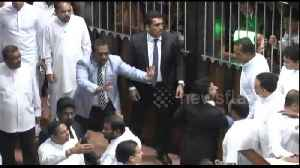 Dozens injured as Sri Lankan parliament erupts into indoor brawl [Video]