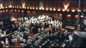 Chaos in Sri Lanka parliament as MPs exchange blows [Video]