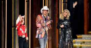 Brad Paisley Closes Out CMA Awards by Wearing a Blazer Printed with Carrie Underwood's Face [Video]