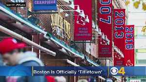 Congressional Resolution: Boston Is 'Titletown, USA' After Red Sox World Series Win [Video]