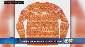 Fast Food Fashion: Whataburger Christmas Sweater Sells Out [Video]