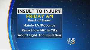 Thursday Night Forecast: Who Could See Friday Morning Snowflakes [Video]