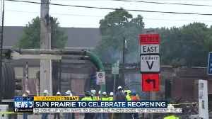Four months after deadly explosion, Sun Prairie city leaders, businesses celebrate grand reopening [Video]