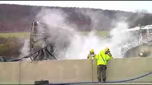 Officials respond to multiple I-78 accidents: 3-vehicle crash, tractor trailer collision [Video]