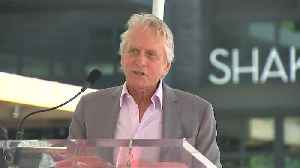 Michael Douglas accepted Walk of Fame star to mark 50th career anniversary [Video]