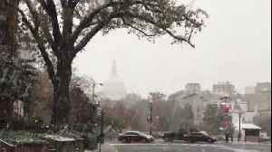 Blanket of white coats DC in first snowfall of season [Video]