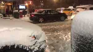 Cars Stuck on Snow Covered Streets in New York City Amid Storm Chaos [Video]