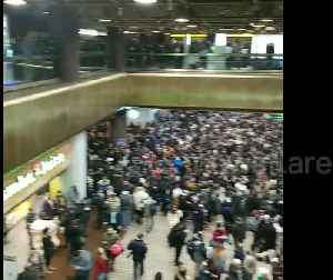 Delays and chaos at Port Authority Bus Terminal as snow storm batters New York City [Video]